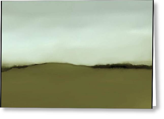 Fineartamerica Greeting Cards - The Hill   A 6 Greeting Card by Diane Strain