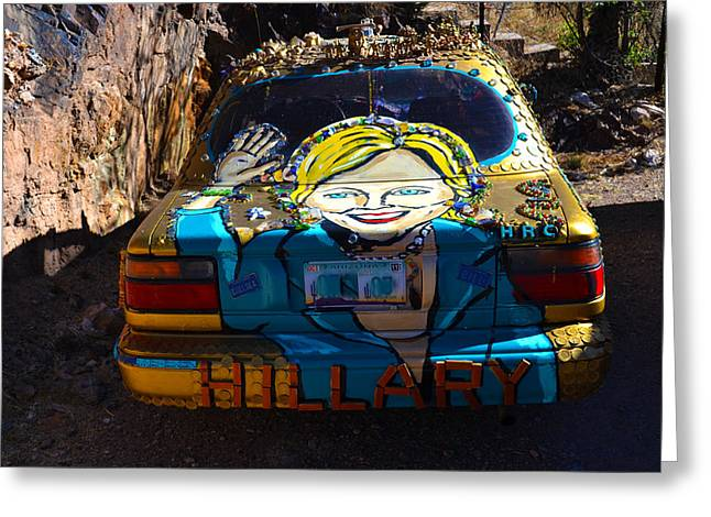The Hill Car Greeting Card by Jeffrey Hamilton