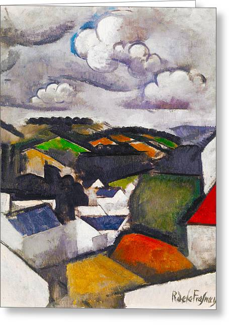 The Hills Greeting Cards - The Hills Beyond Meulan Greeting Card by Roger de La Fresnaye
