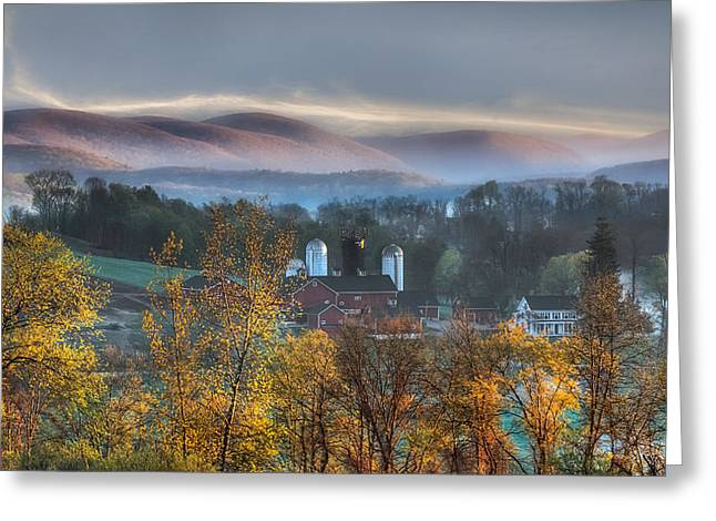 Connecticut Farms Greeting Cards - The Hills Greeting Card by Bill  Wakeley