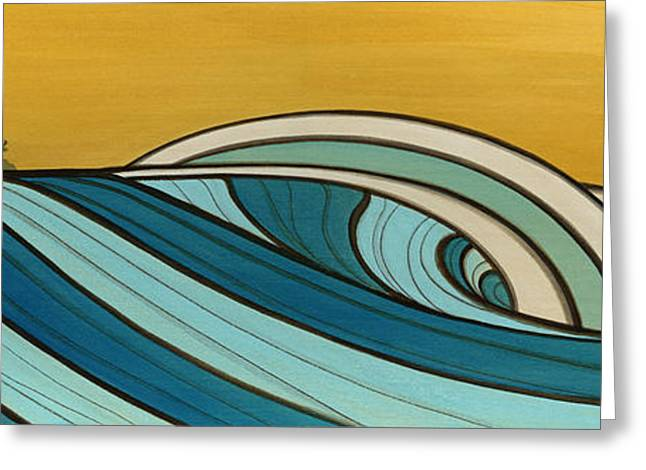 Surfer Art Greeting Cards - The Hills Greeting Card by Joe Vickers