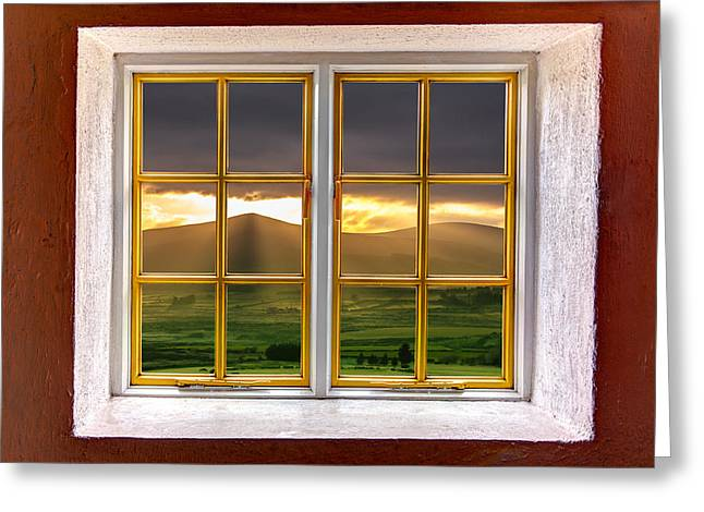Looking Out Side Greeting Cards - The Hills Greeting Card by Semmick Photo