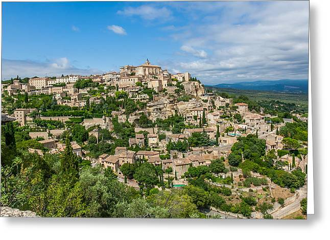 Provence Village Greeting Cards - The Hilltop Village of Gordes Greeting Card by Alex Zabo