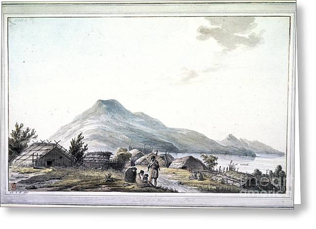 Village By The Sea Greeting Cards - The Hippah, New Zealand Greeting Card by British Library