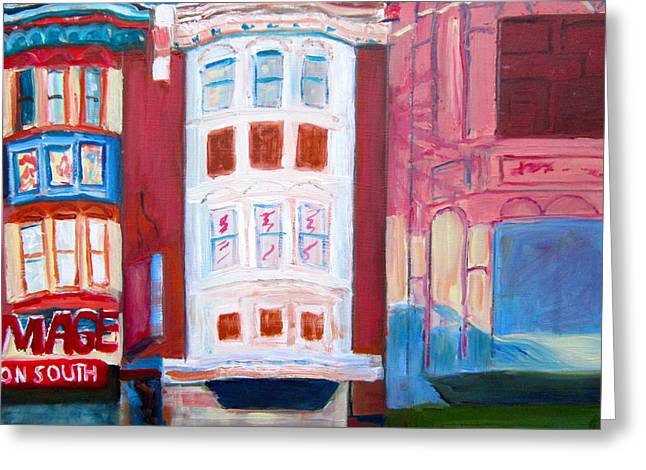 South Philadelphia Paintings Greeting Cards - The Hippest Street In Town Greeting Card by Marita McVeigh