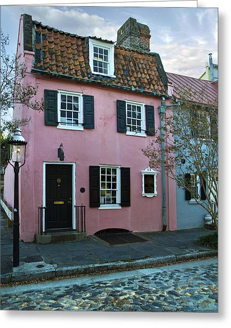 The Historic Pink House In Charleston 1690 Greeting Card by Pierre Leclerc Photography