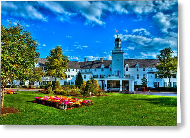 The Lake George Greeting Cards - The Historic Sagamore Resort Greeting Card by David Patterson