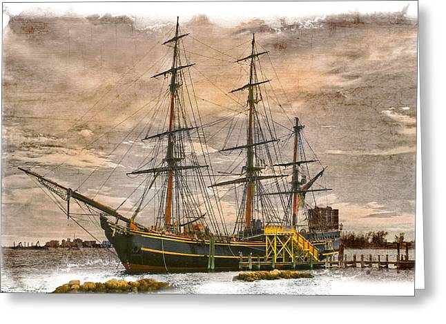 Hobe Sound Greeting Cards - The HMS Bounty Greeting Card by Debra and Dave Vanderlaan