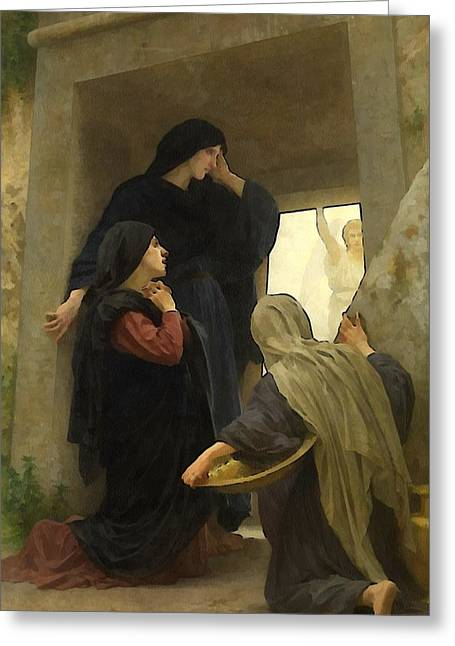 Old Masters Greeting Cards - The Holy Women at the Tomb Greeting Card by William Bouguereau