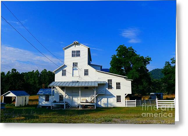 Old Feed Mills Photographs Greeting Cards - The Homan Mill Greeting Card by Teena Bowers