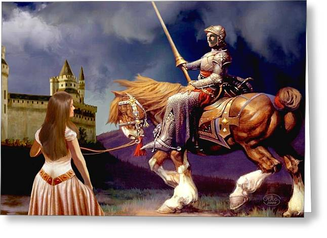 Knights Castle Paintings Greeting Cards - The Homecoming Greeting Card by Ronald Chambers