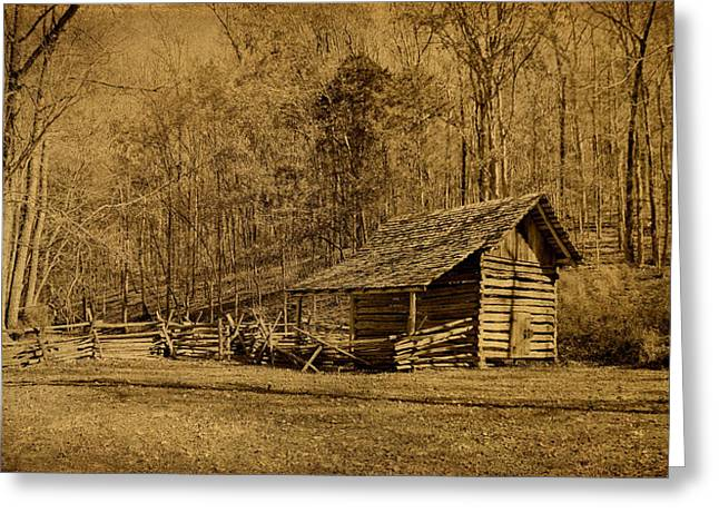 Barkley Greeting Cards - The Homeplace - Field Crib Greeting Card by Sandy Keeton