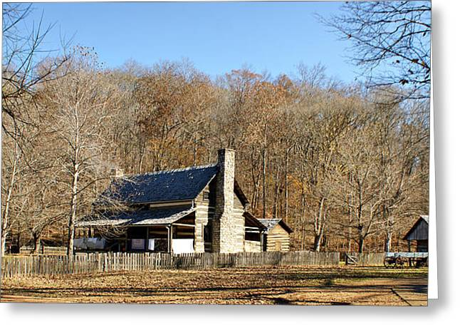Old Home Place Greeting Cards - The Homeplace - Main House Greeting Card by Sandy Keeton