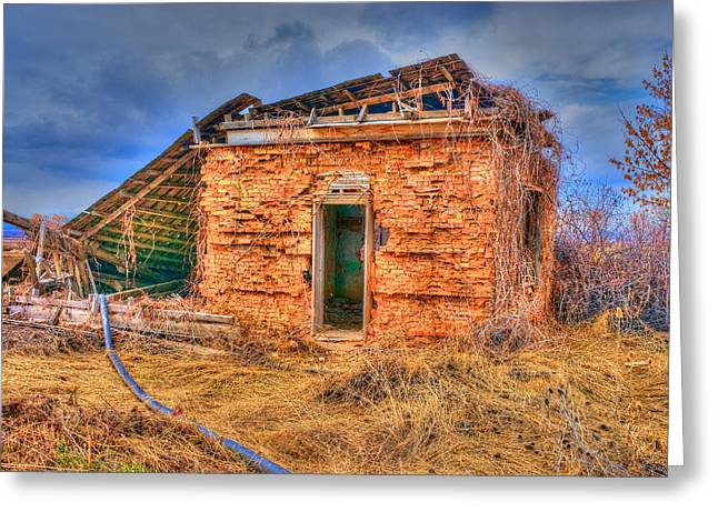 Shack Greeting Cards - The Homestead 3 Greeting Card by Richard J Cassato