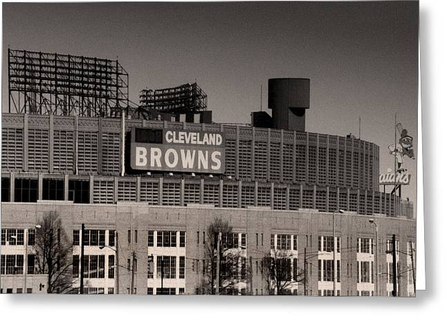Cleveland Browns Greeting Cards - The Hometeams Greeting Card by Kenneth Krolikowski