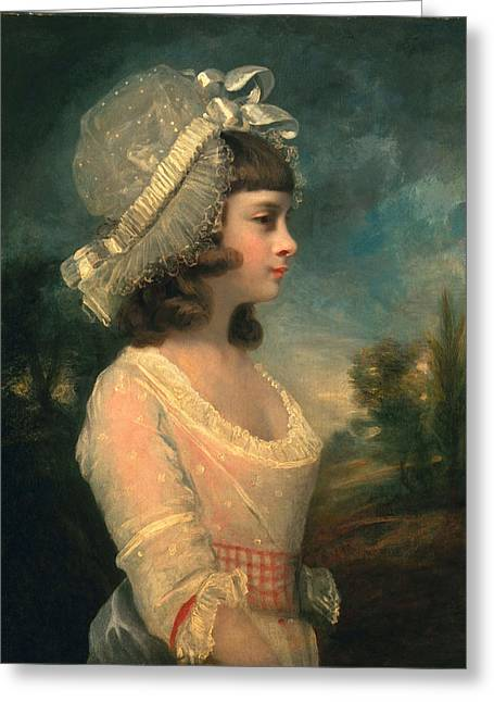 White Dress Greeting Cards - The Hon. Theresa Parker, Later The Hon Greeting Card by Sir Joshua Reynolds