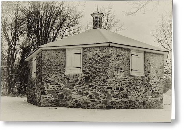 Public Schools Greeting Cards - The Hood Octagonal School in Newtown Township Greeting Card by Bill Cannon