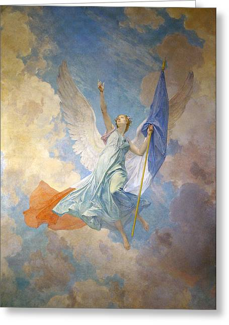Angel Blues Digital Art Greeting Cards - The Hope Greeting Card by Diogene Ulyssee Napoleon Maillart