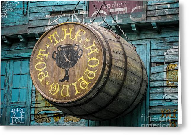 Wooden Building Greeting Cards - The Hopping Pot Greeting Card by Perry Webster