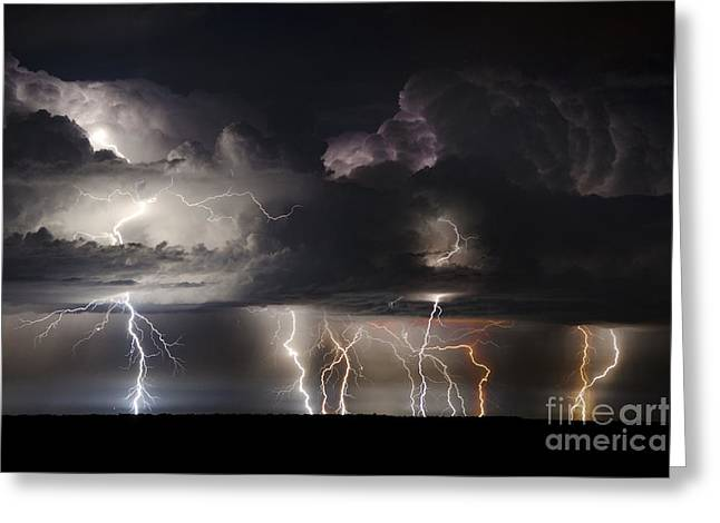 Lightning Photographer Greeting Cards - The Hornets Nest Greeting Card by Ryan Smith