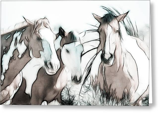 Vale Greeting Cards - The Horse Club Greeting Card by Athena Mckinzie