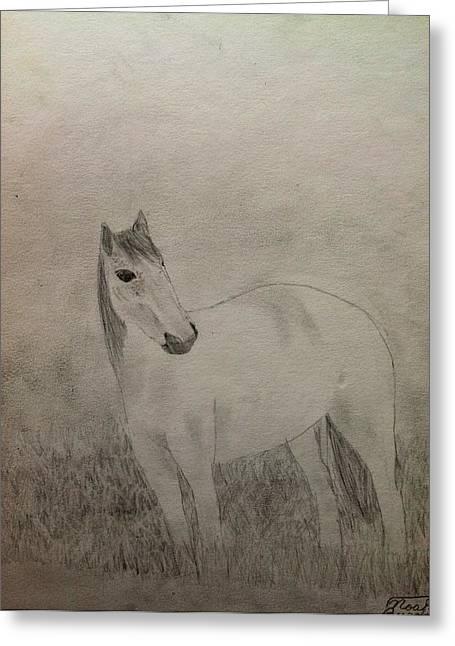 The Horse Greeting Card by Noah Burdett