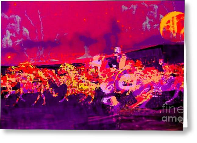 Steal Prints Greeting Cards - The Horse Raiders II Greeting Card by Larry Lamb