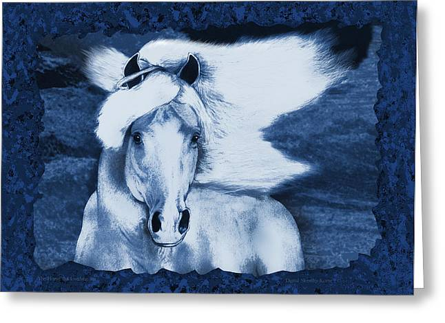 Ocean Mammals Mixed Media Greeting Cards - The Horse who loved the Sea Greeting Card by Christopher Korte