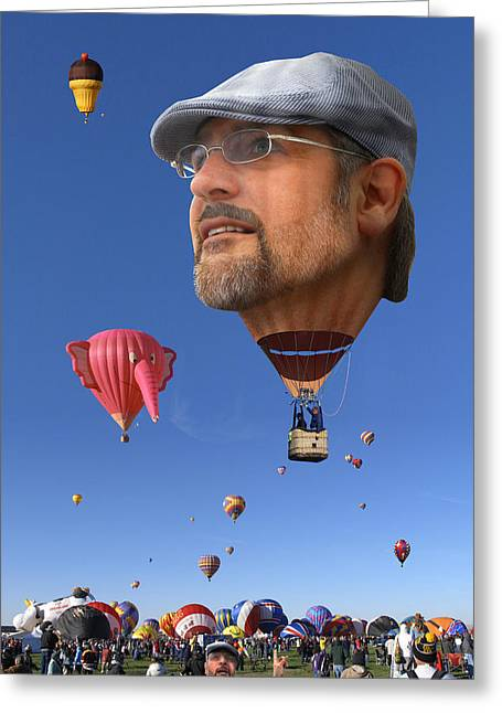 Albuquerque Greeting Cards - The Hot Air Surprise Greeting Card by Mike McGlothlen