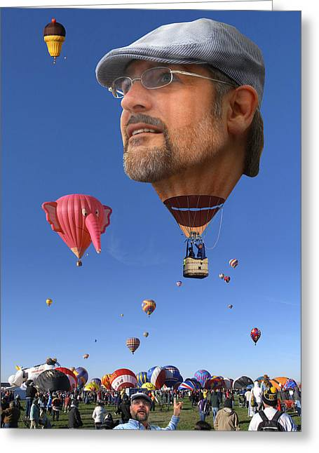 The Hot Air Surprise Greeting Card by Mike McGlothlen