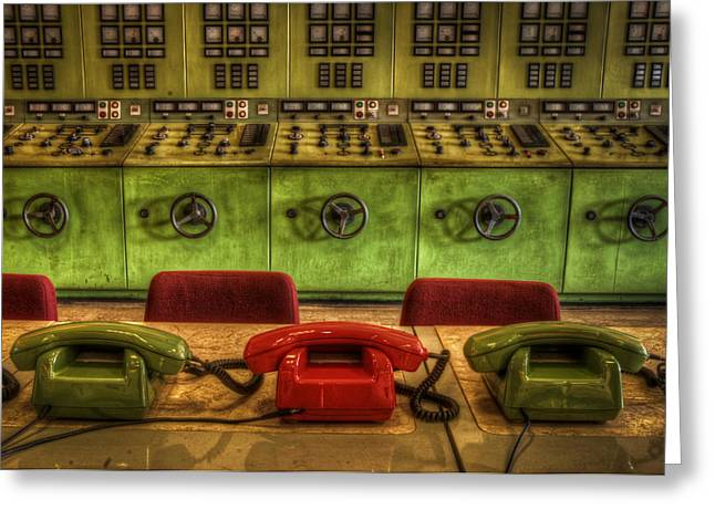 Consoling Digital Art Greeting Cards - The hot line Greeting Card by Nathan Wright