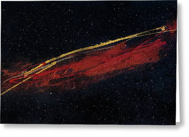 Abstract Art Large Scale Greeting Cards - The Hot Mars Greeting Card by Maria  Lankina