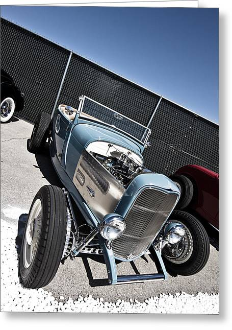 Kustom Greeting Cards - The Hot Rod Greeting Card by Merrick Imagery