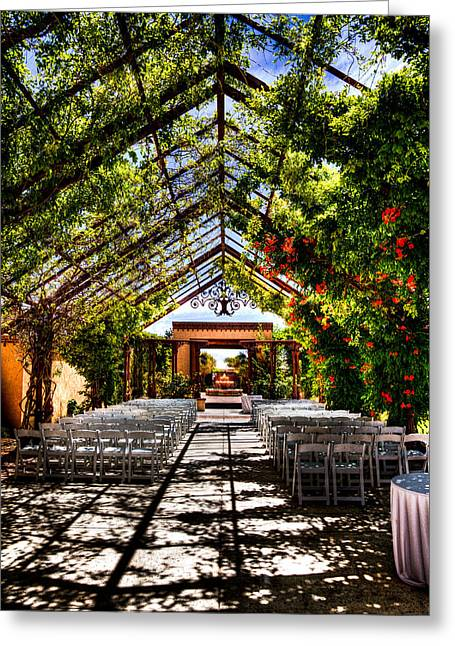 Convention Greeting Cards - The Hotel Albuquerque Wedding Pavilion Greeting Card by David Patterson