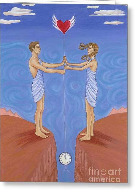 Kahlil Gibran Greeting Cards - The Hour of Separation Greeting Card by Robin White