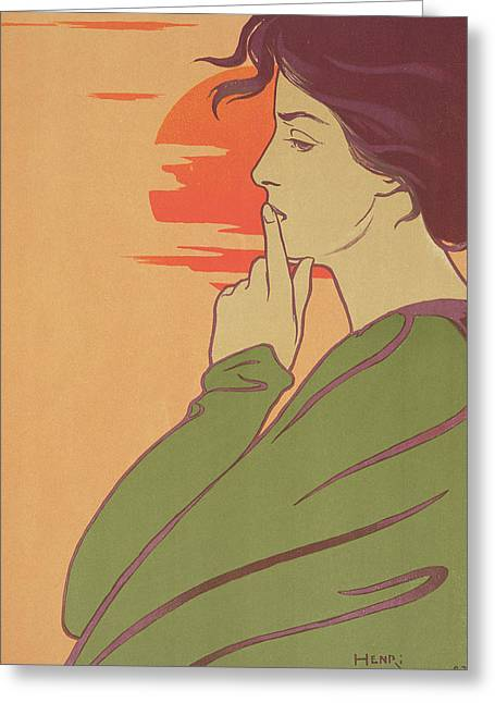 Dignity Greeting Cards - The Hour Of Silence Greeting Card by Henri Georges Jean Isidore Meunier