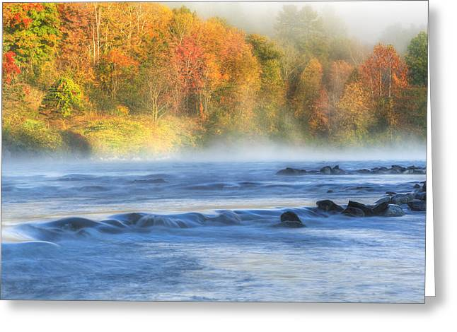 Ethereal Waterfalls Greeting Cards - The Housatonic River Greeting Card by Bill  Wakeley