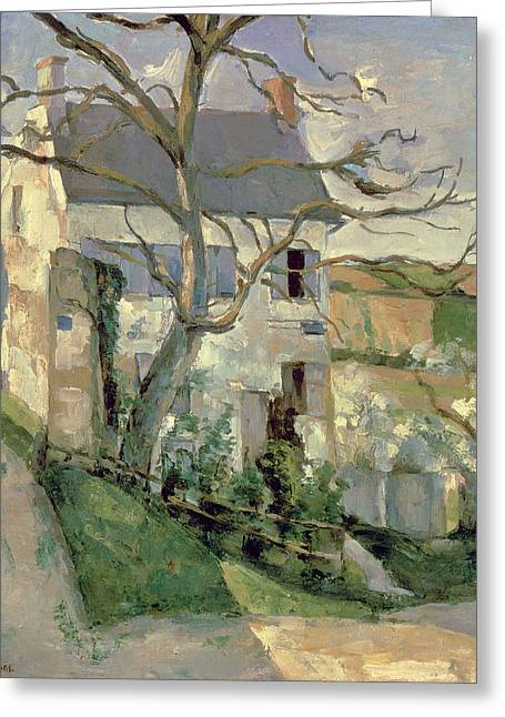 Maison Greeting Cards - The House And The Tree, C.1873-74 Greeting Card by Paul Cezanne
