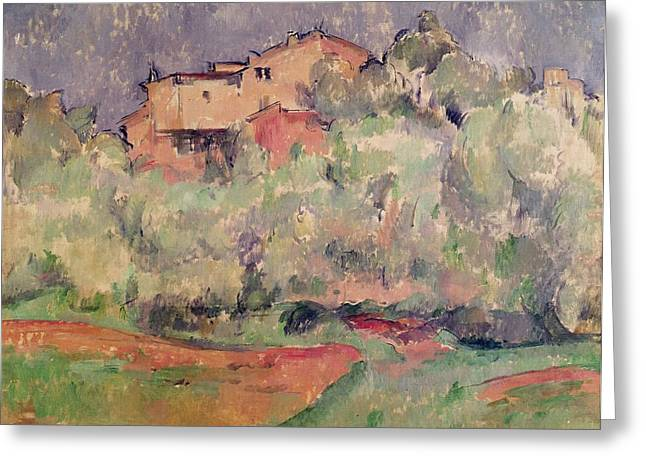 Maison Greeting Cards - The House At Bellevue, 1888-92 Oil On Canvas Greeting Card by Paul Cezanne