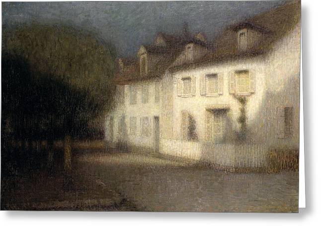 Post-impressionism Greeting Cards - The House Greeting Card by Henri Eugene Augstin Le Sidaner