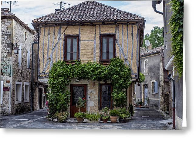 South West France Greeting Cards - The House in the Middle of the Street Greeting Card by Nomad Art And  Design