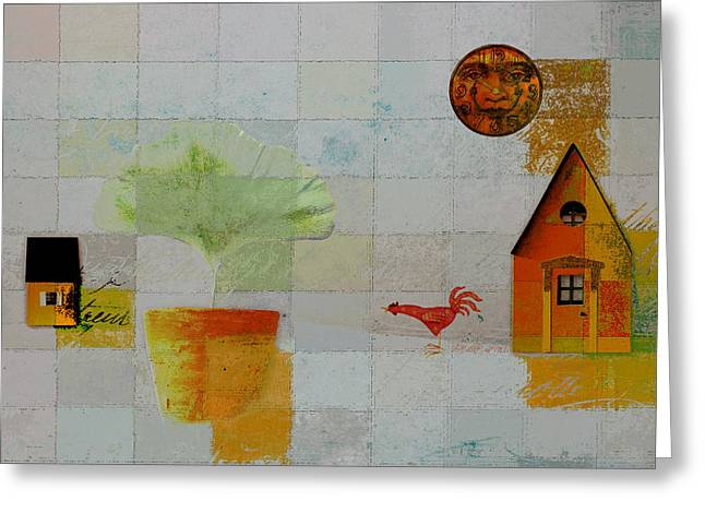 Winter Scene Digital Art Greeting Cards - The House next Door - j055061140-f1c142 Greeting Card by Variance Collections