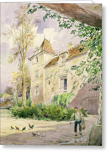 Haut Paintings Greeting Cards - The House of Armande Bejart Greeting Card by Henri Toussaint