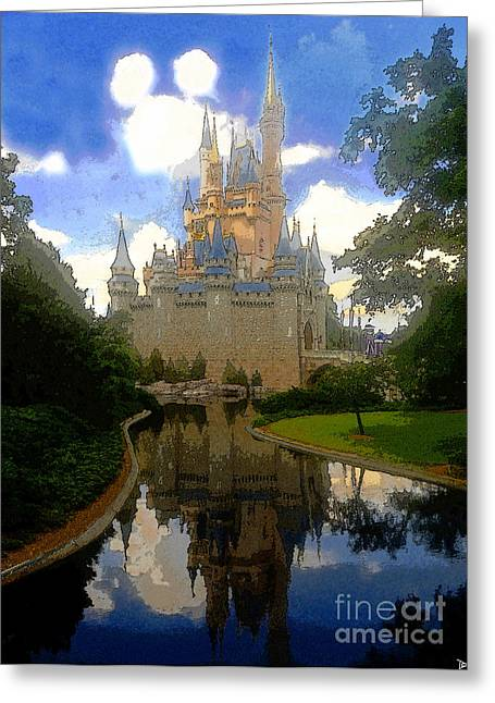 Theme Parks Greeting Cards - The House of Cinderella Greeting Card by David Lee Thompson
