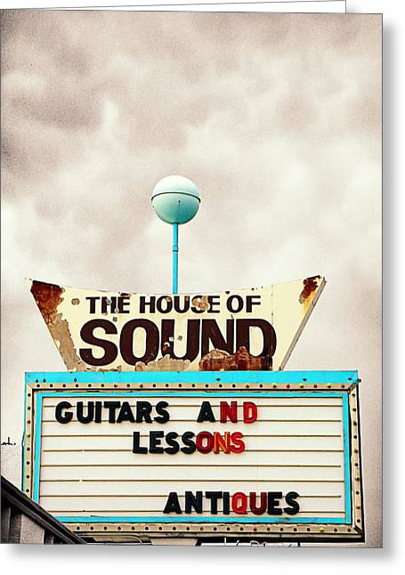 The Houses Greeting Cards - The House of Sound Greeting Card by Ron Regalado