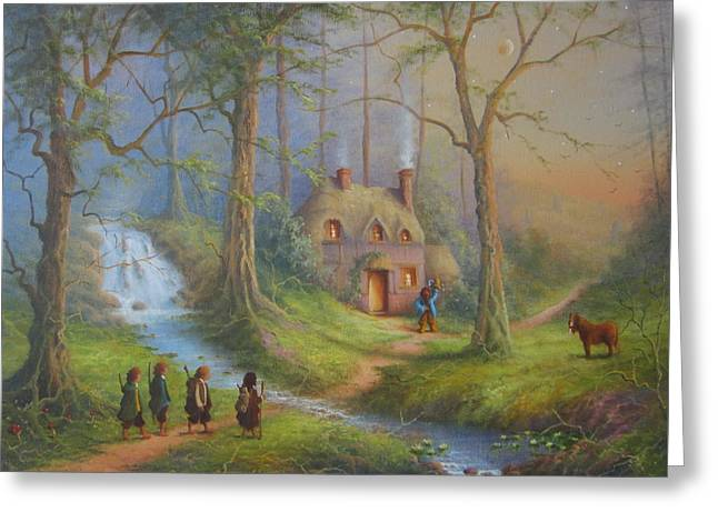 Lord Of The Rings Greeting Cards - The House Of Tom Bombadil.  Greeting Card by Joe  Gilronan