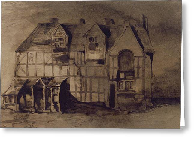 Romanticism Drawings Greeting Cards - The House of William Shakespeare Greeting Card by Victor Hugo