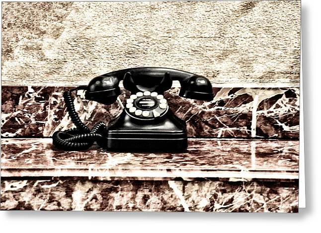 The Houses Greeting Cards - The House Phone Greeting Card by Bill Cannon