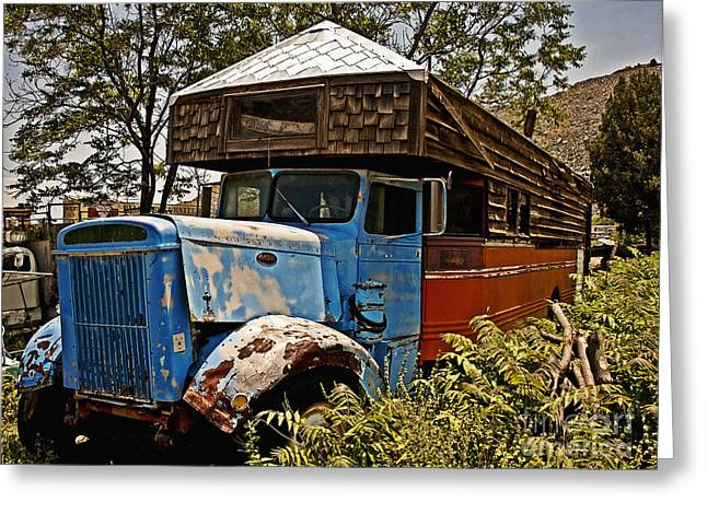 Rusted Cars Greeting Cards - The House that Peterbilt Greeting Card by Lee Craig