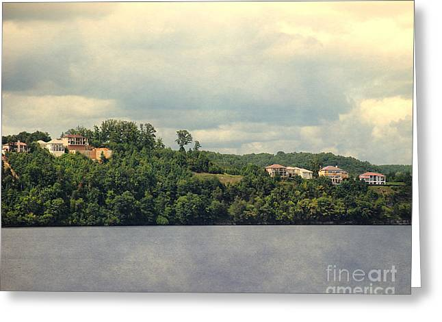 Lake House Greeting Cards - The Houses of Pickwick II Greeting Card by Jai Johnson